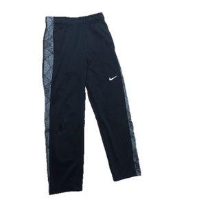 Nike Boys Therma Dri-Fit Fleece Black Sweatpants